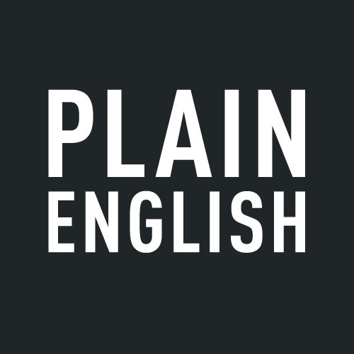 Plain English logo